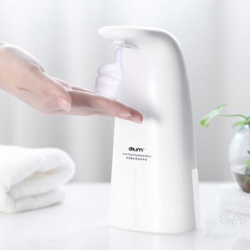 Dispenser erogatore automatico con fotocellula senza contatto capacità 250ml sapone igienizzazione mani