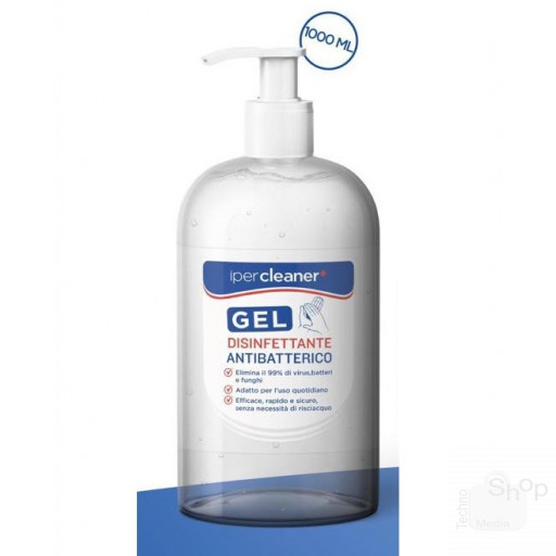 Gel igienizzante pulizia mani 1000ml a base di alcool con dispenser senza acqua senza risciacquo
