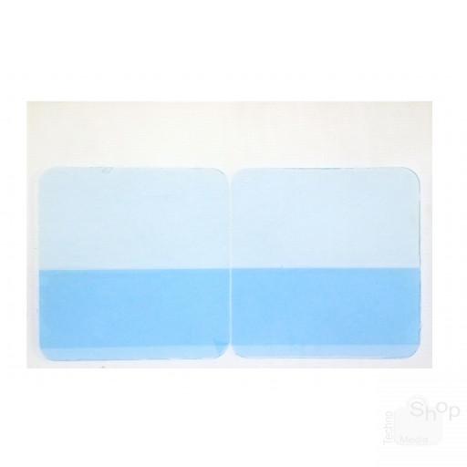 12 Patch in gel adesivo conduttivo ricambio per rigenerare elettrodi adesivi silicone gomma cinture abs