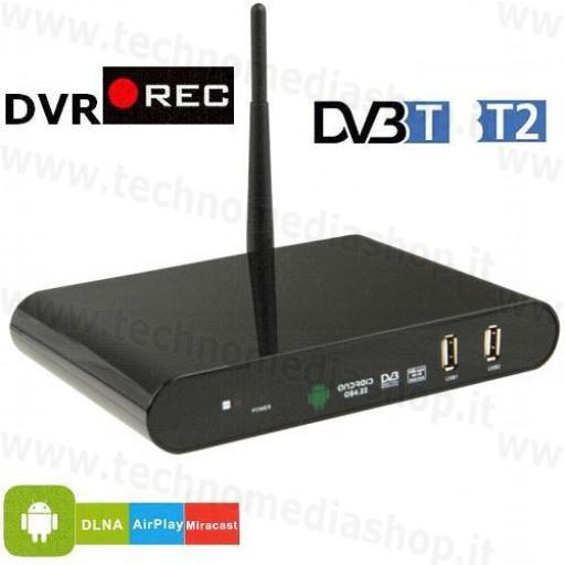 DVB internet TV Box Mediacenter Player Recorder Android Ricevitore DVB-T2