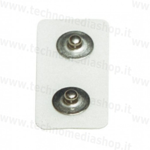 25 elettrodi bipolari fiab 41x21mm foam 2 bottoni clip snap 4mm stimolazione emg bioimpedenziometria