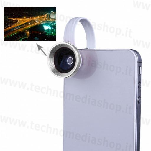 Grandangolo / Macro ottica aggiuntiva 0,67x universale smartphone tablet selfie allarga inquadratura