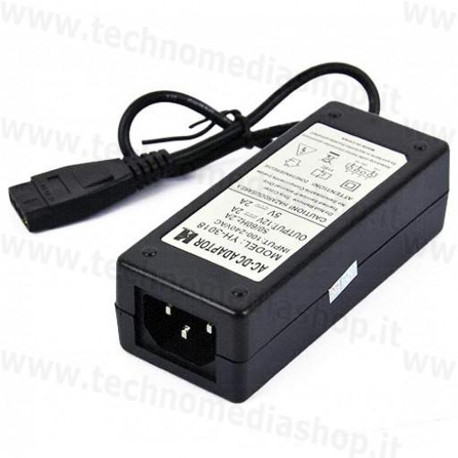 Alimentatore trasformatore adattatore 12V 5V 2+2A power adapter connettore Molex hdd ide spina UE