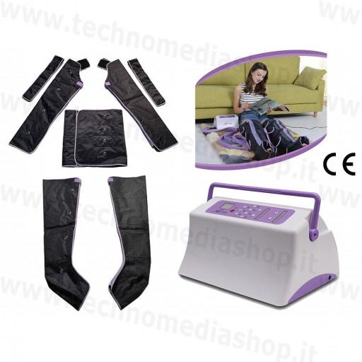 TechnoPres Macchina completa per pressoterapia sequenziale piedi polpacci gambe pancia fianchi braccia ritenzione idrica cellulite