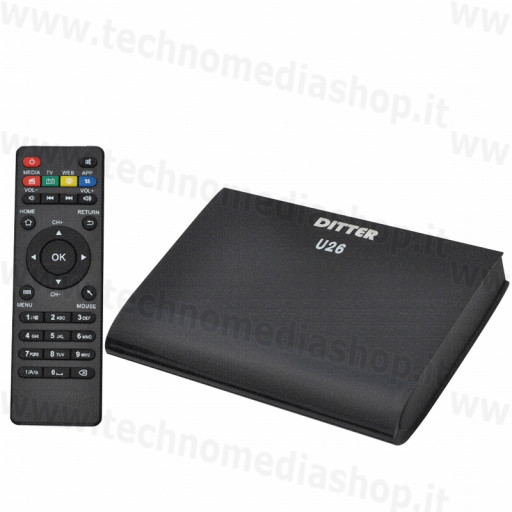 Android smart Tv Box U26 cortex A7 Wifi Bluetooth 3D Hdmi 1.4 FullHD RCA Lan