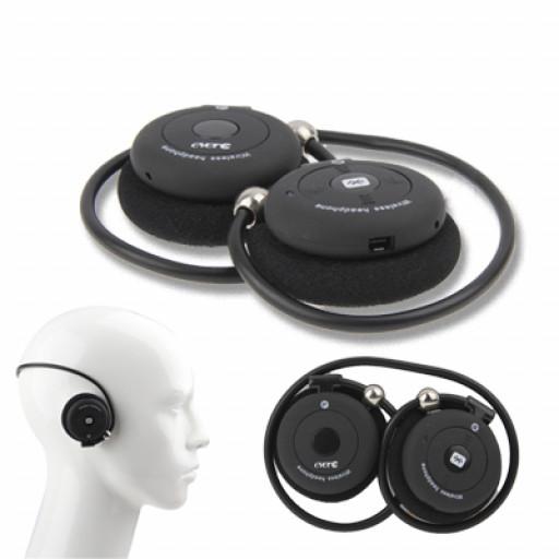 Cuffiette bluetooth vivavoce sport flessibili evere stereo musica telefonate colore nero - Cuffie per sport ...