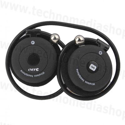 ... Cuffie Bluetooth alta qualità sport flessibili EverE stereo Musica  telefonate colore nero ... 7a2387b603d1