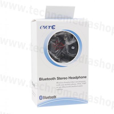 ... Cuffie Bluetooth alta qualità sport flessibili EverE stereo Musica  telefonate colore nero 4c248dcd3e94