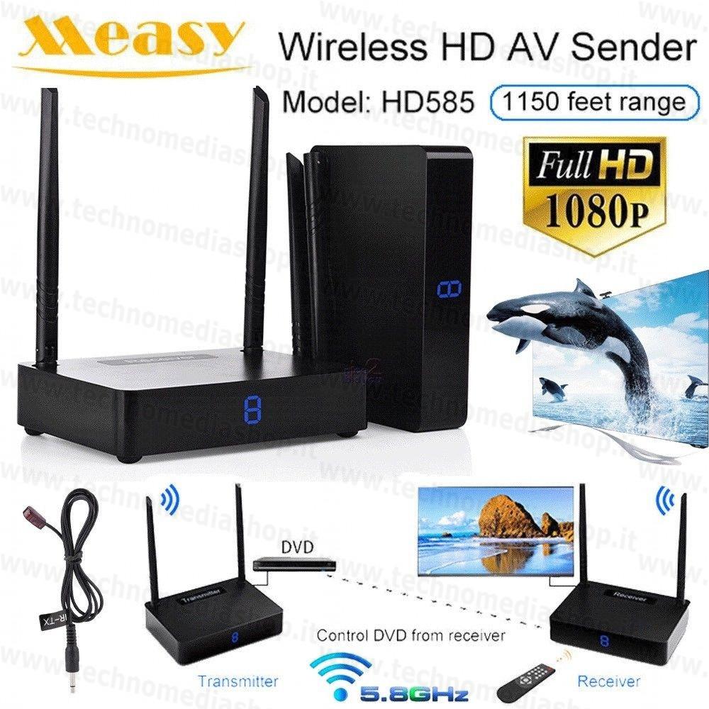 measy hd585  TBf03 measy HD585 HD595 Trasmettitore ricevitore Video decoder tv ...