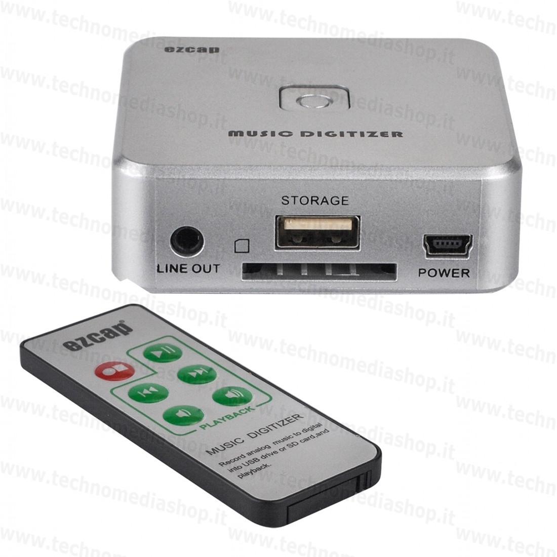 Rif07 - Registratore convertitore acquisizione recording Mp3 da Linea audio  recorder capture stereo Line in Rca Jack music digitizer