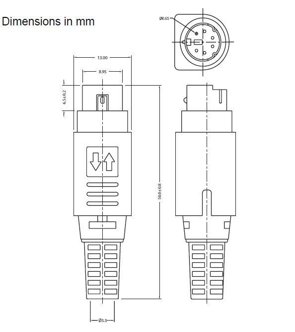 alimentatore power supply 5v 12v 2a mini din 6 pin ps2