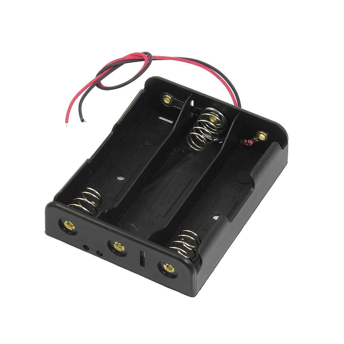 Porta pile 3 18650 litio costruire kit pacco batteria for Porta batteria 9v