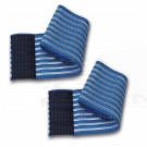 2 fasce elastiche fiab alte regolabili a strappo lunghezza 80Cm altezza 10Cm elettrostimolazione ginnastica fasciature