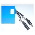 Pacco batteria ricaricabile 12V Litio li-ion 3S2p 10.8-12.6 6000mAh 83x63x47mm 350g lithium battery