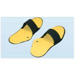 Coppia Ciabattine conduttive a clip per elettrostimolazione