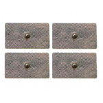 4 Elettrodi adesivi rettangolari 5x10cm con clip standard 4mm