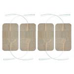 4 Elettrodi adesivi cerotti rettangolari 4,5x8cm monopolari con doppio spinotto 2 pin 2mm