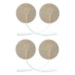 4 Elettrodi adesivi rotondi diametro 3cm con filo_spinotto universale