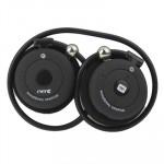 Cuffie Bluetooth alta qualità sport flessibili EverE stereo Musica telefonate colore nero