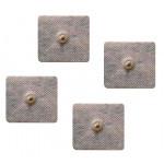 4 Elettrodi adesivi quadrati 5x5cm a clip piccola 2,8mm