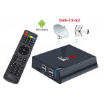 Mini PC kII Pro Android 5.1 S905 memoria 2 / 16GB con Ricevitore satellitare S2 e digitale terrestre HD 4K Videoregistratore