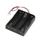 Porta pile 3 x 18650 litio collegamento serie (3S) lithium Li-ion battery holder series