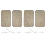 4 Elettrodi adesivi rettangolari 5x10cm per elettrostimolatore con filo spinotto 2mm