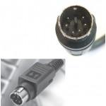 Connettore spina volante ps2 6 pin power plug da saldare minidin ps 2 connector