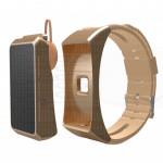 Auricolare bluetooth Sport watch conta passi distanza calorie battito cardiaco android ios colore oro