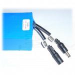 Pacco batteria ricaricabile 12V Litio li-ion 3S 10.8-12.6 12000mAh 83x63x70mm 590g lithium battery