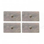 4 Elettrodi adesivi corpo rettangolari grandi 14 x 7,5Cm fiab clip bottone ricambi elettrostimolatore