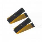 2 Fasce conduttive 60 Cm fiab a strappo in ecopelle di daino bottone 4mm per elettrostimolatori top pace pg933
