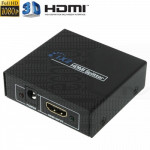 Splitter sdoppiatore di segnale audio video HDMI 1.4 Full-HD HDCP 1 ingresso 2 uscite 1080p 3D