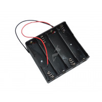 Porta pile 4 x 18650 holder li-ion collegamento serie (4S) 14,8V 16,8V