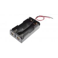 Porta pile 2 x 18650 litio collegamento serie (2S1p) 7,4v lithium Li-ion battery holder series