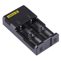 Nitecore Intellicharger i2 Caricapile universale 1,2v 3,7v Ni-Mh Ni-Cd Li-ion Litio AA AAA C 18650 14500