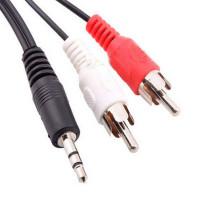 Cavo Audio Cable stereo Jack 3,5mm per auricolari adattatore con spinotti Rca bianco rosso 1,5m