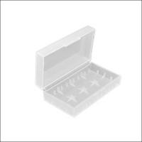 Contenitore plastico trasparente bianco per pile litio 18650 18490 18350