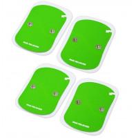 4 Elettrodi cerotti adesivi 6x8cm bipolari 2 clip 4mm elettrostimolatore tens wireless ricambi per art.RHf21 New Age wi