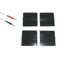 4 Elettrodi silicone adesivi rigenerabili riutilizzabili pre gellati patch gel quadrati 5x5cm spinotto tesmed globus