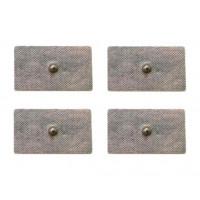 4 Elettrodi adesivi rettangolari 4x8cm con clip standard 4mm