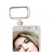 Flash aggiuntivo illuminatore 21 led regolabile 2800k-7000k universale per smartphone selfie foto video