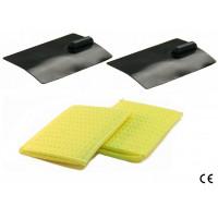 kit 2 elettrodi silicone gomma 50 x 100mm 2 spugne tasche idratabili ionoforesi tens elettrostimolazione spinotto 2mm