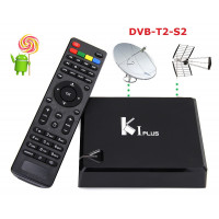Smart Box K1 Plus Android con doppio ricevitore tv DVB-T2-S2