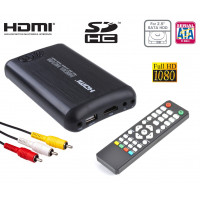 "Mediacenter box multimediale Hdd ssd 2,5"" sata HDMI Full-HD Mkv Usb 3.0 Host Sd Rca Casa Auto 12v 220v"