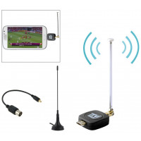 Ricevitore TV e Radio DVB-T per Smartphone Tablet Android micro usb otg +Antenna Magnetica +Adattatore
