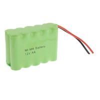 Pacco Batteria ricaricabile 12V 2200mah Ni-Mh 10 pile stilo AA 79x30x61mm rigenerabile