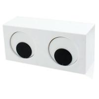 Orologio occhi rotanti colore bianco