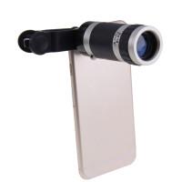 Zoom ottico moltiplicatore di focale 8x 220mm teleobiettivo universale per Smartphone Tablet