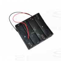 Porta pile 4 x 18650 holder li-ion collegamento serie (4S) 14,8V 16,8V lithium Li-ion battery holder series
